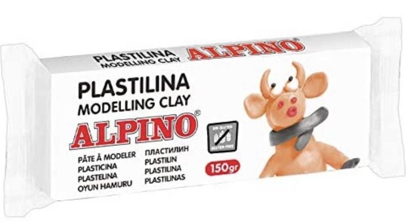 Pastilla plastilina Alpino blanco
