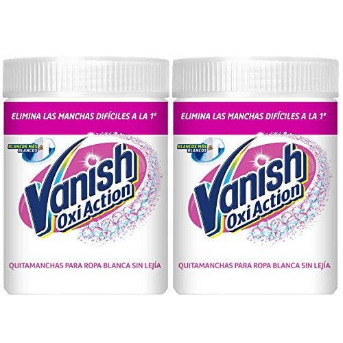 Vanish Oxi Action. Quitamanchas y Blanqueador para Ropa Blanca. 2 x 900 g