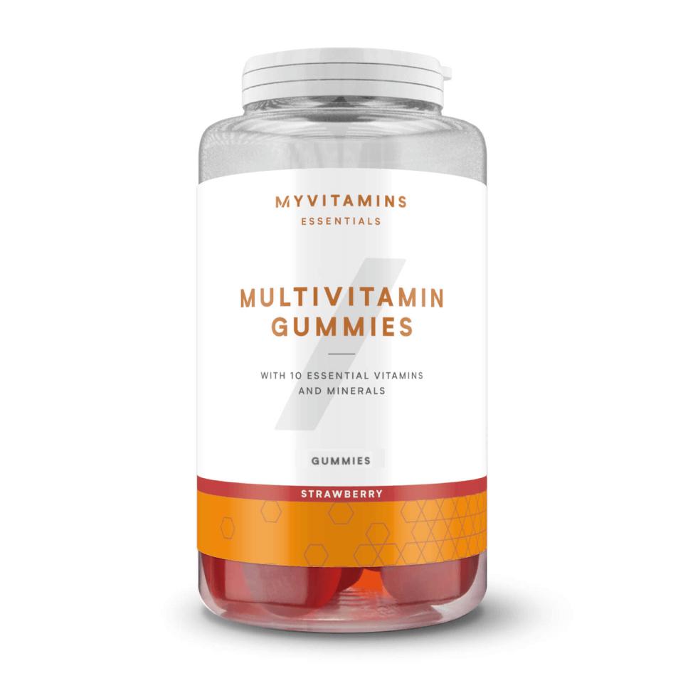 Gominolas de vitaminas masticables con sabor a fresa
