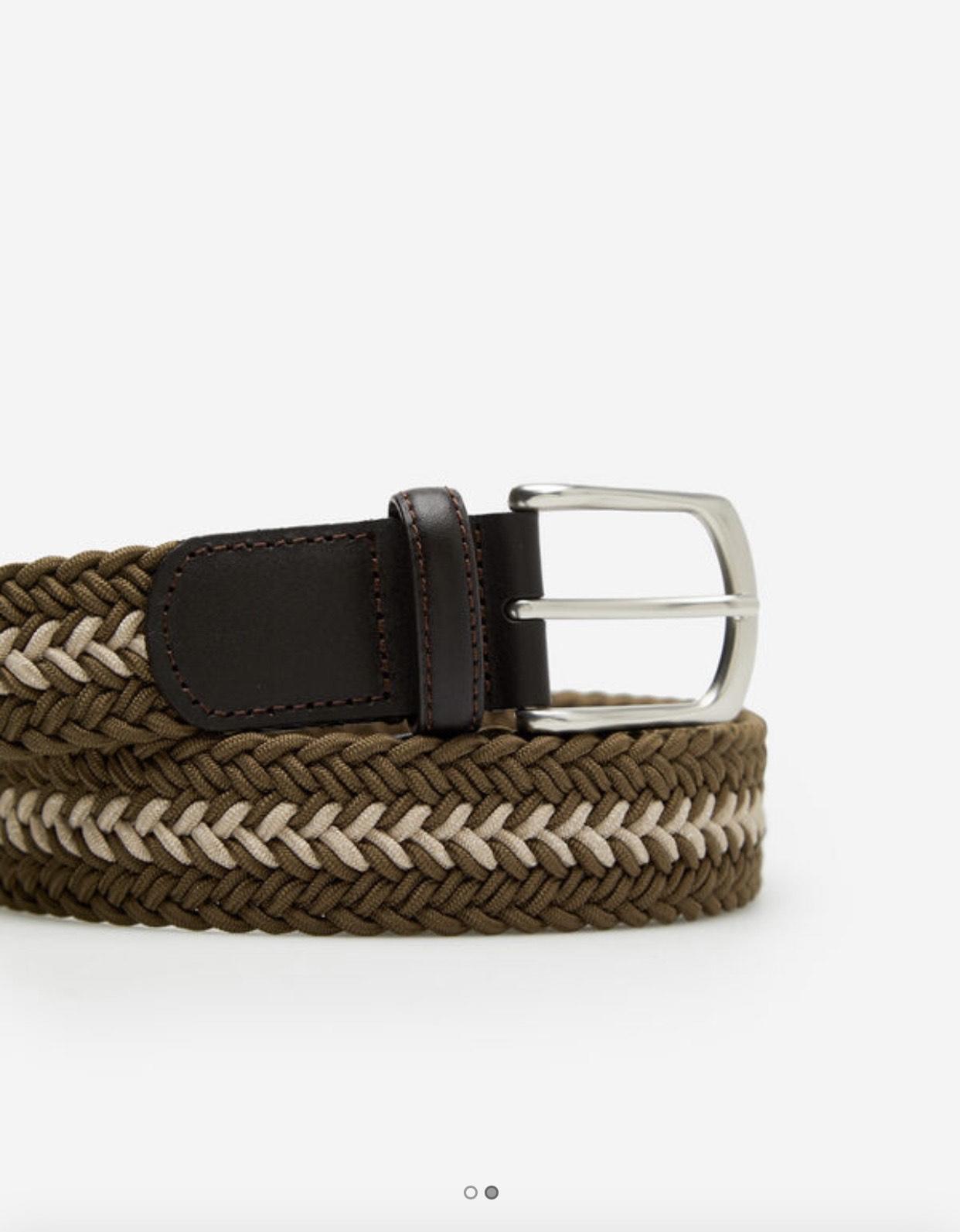 Cinturón Trenzado Caballero (Cortefiel)
