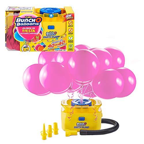 Hinchador eléctrico con 16 globos de fiesta auto sellantes