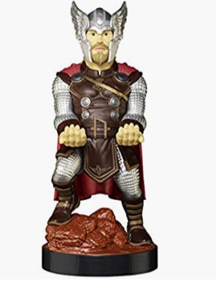Exquisite Gaming - Cable guy Thor, soporte de sujeción y carga para mando de consola y/o smartphone. Licencia oficial Marvel