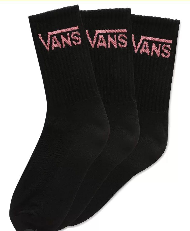 Tres pares de calcetines Vans. También disponibles en blanco. Descripción.