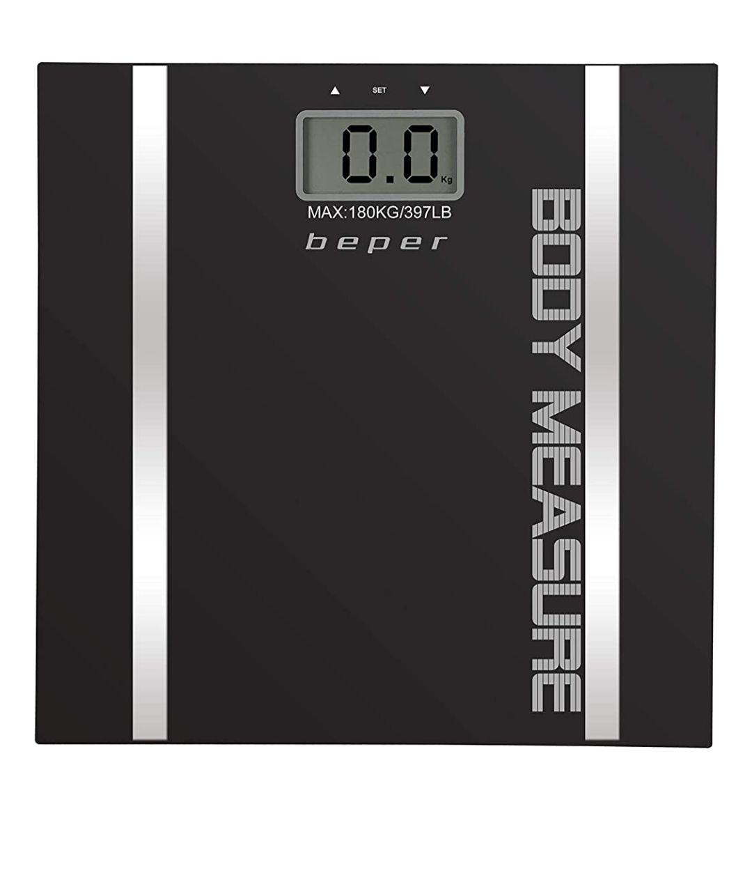 Báscula de baño con medidor de masa corporal