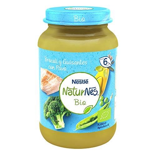 Nestlé Naturnes Bio Pure Brócoli Guisantes Pavo Pack de 12 tarritos