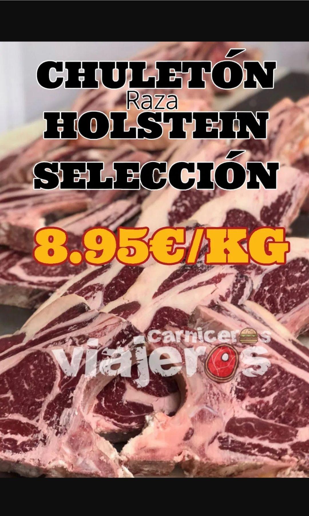 Chuletón vaca holstein del Pirineo + vino Care