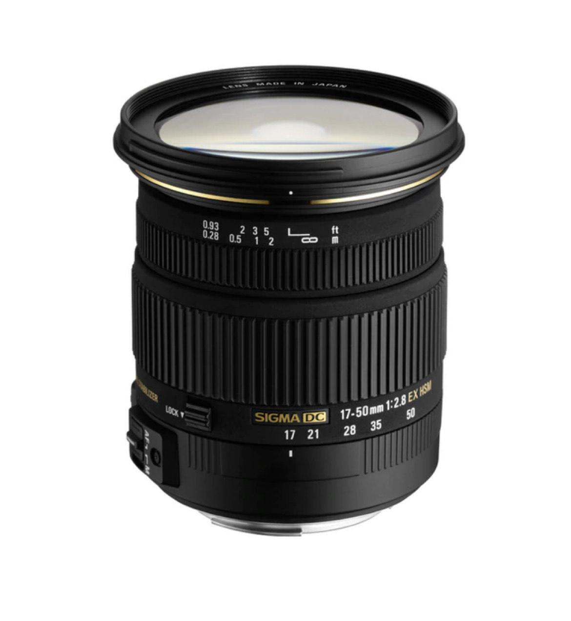 Objetivo Sigma 17-50 mm F/2,8 EX DC OS HSM para Sigma