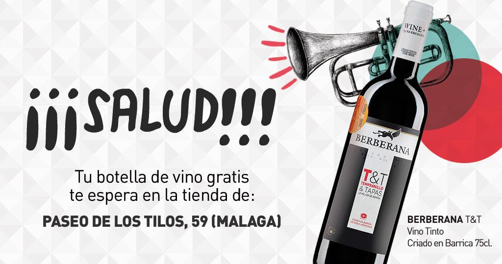 Vino tinto Berberana GRATIS (MÁLAGA)
