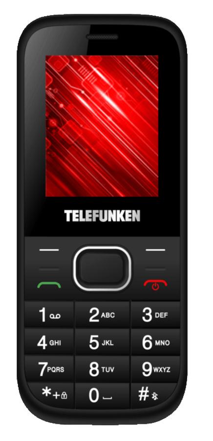 Móvil - Telefunken TM9.1 Classy, Dual Sim, Bluetooth, Cámara 0.3MP, Negro y blanco