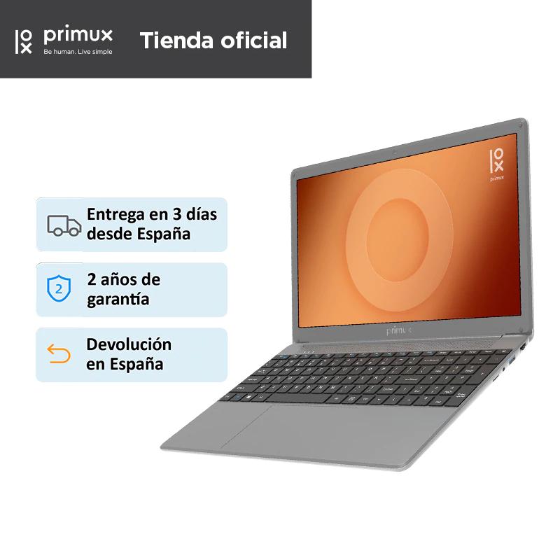 "Portátil PRIMUX ioxbook 15CA, pantalla de 15,6"" FHD IPS, Intel Celeron N4000, 8GB RAM, 256GB SSD, USB-C, Sin Sistema Operativo"