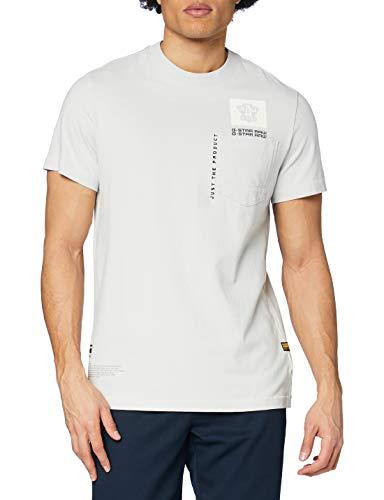 G-STAR RAW Multi Logo Pocket Graphic Straight Camiseta para Hombre