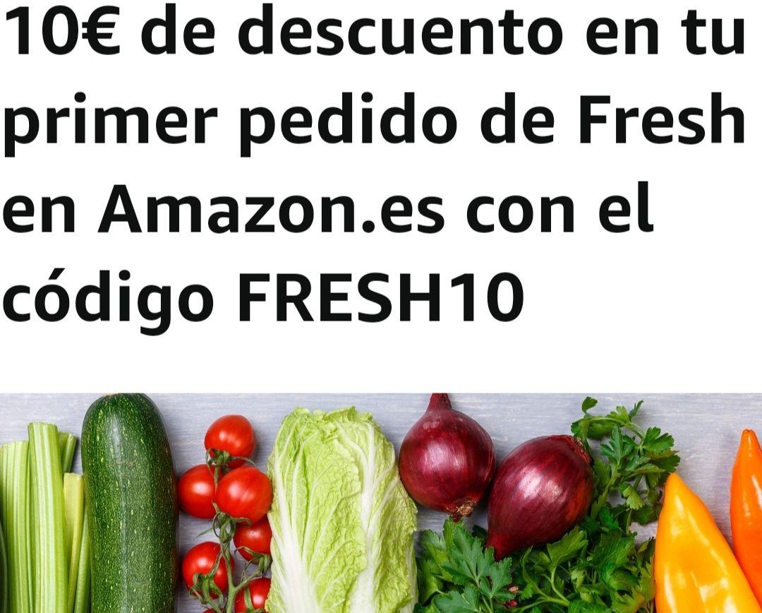 10€ de descuento en tu primer pedido de Fresh en Amazon.es con el código FRESH10