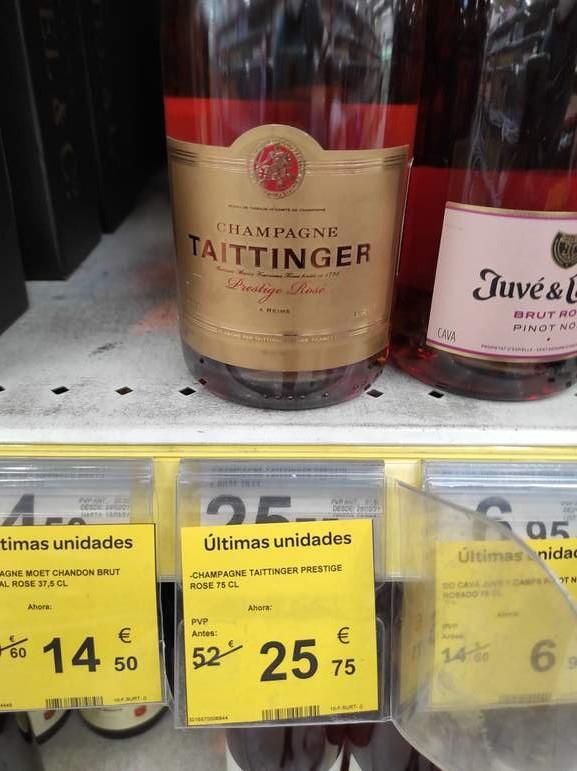 Cava y champagne a mitad de precio en el Carrefour 2 de Valladolid