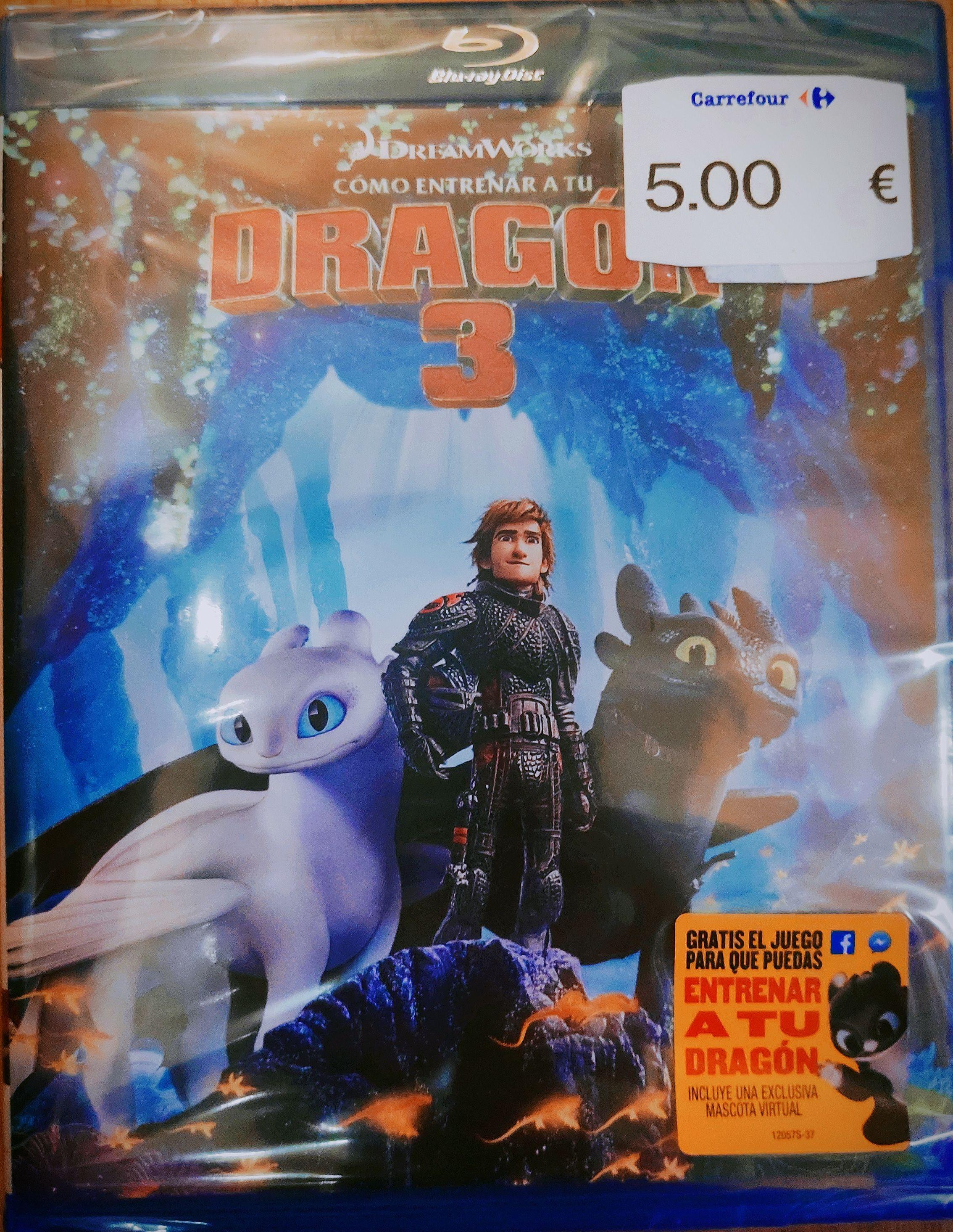 OFERTA Como entrenar a tu dragón 3 / Blu-Ray en Carrefour, Fuenlabrada La Estación