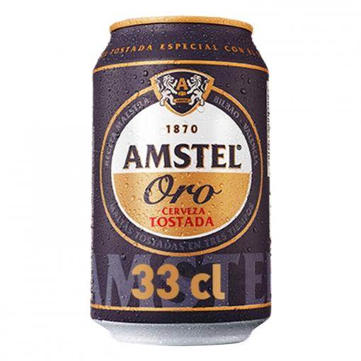 Eroski: Cerveza Amstel Oro (20 latas por 14€ y 7€ a tu tarjeta de socio) = 0,35€/lata