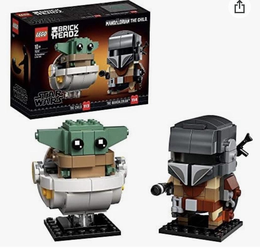 Reaco LEGO Star Wars BrickHeadz - El Mandaloriano y El Niño,