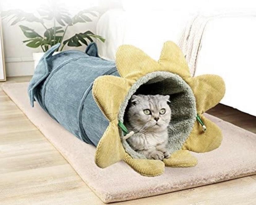 Túnel plegable para gatos Diseño de vegetales