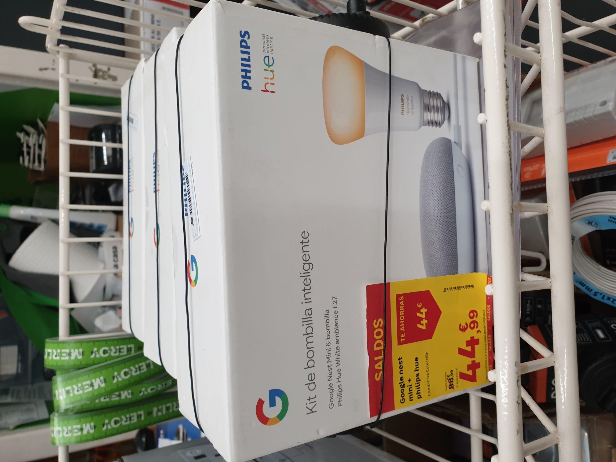 Google Nest Mini + Philips HUE en LEROY MERLÍN Talavera de la Reina