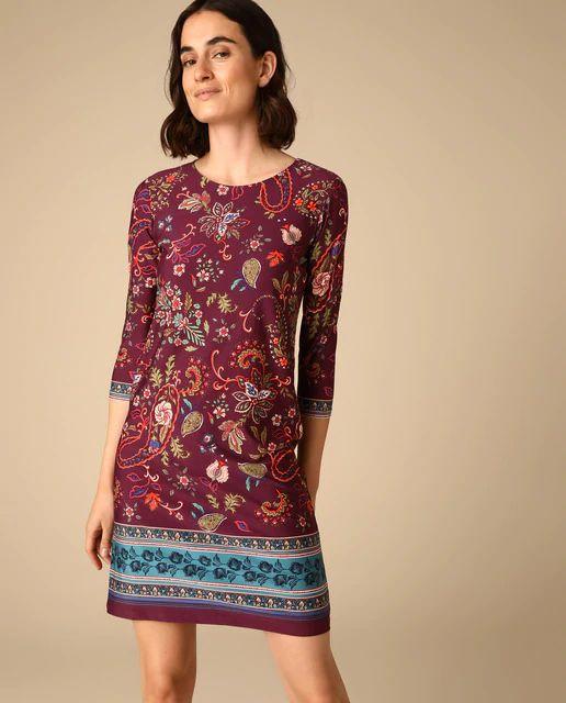 Vestido tipo túnica con estampado paisley