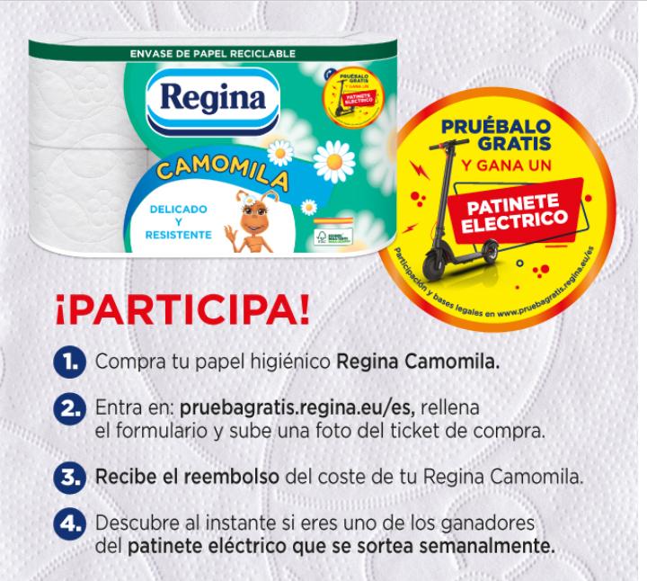 Prueba gratis el papel higiénico Regina Camomila