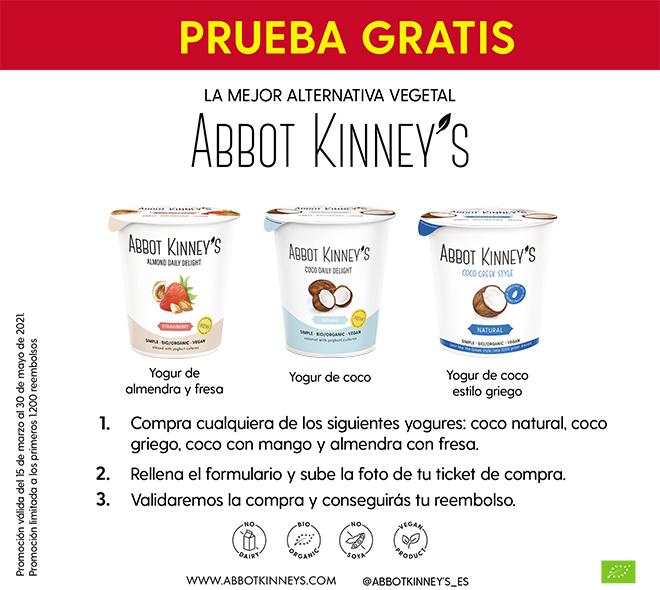 Prueba gratis de yogures veganos Abbot Kinners
