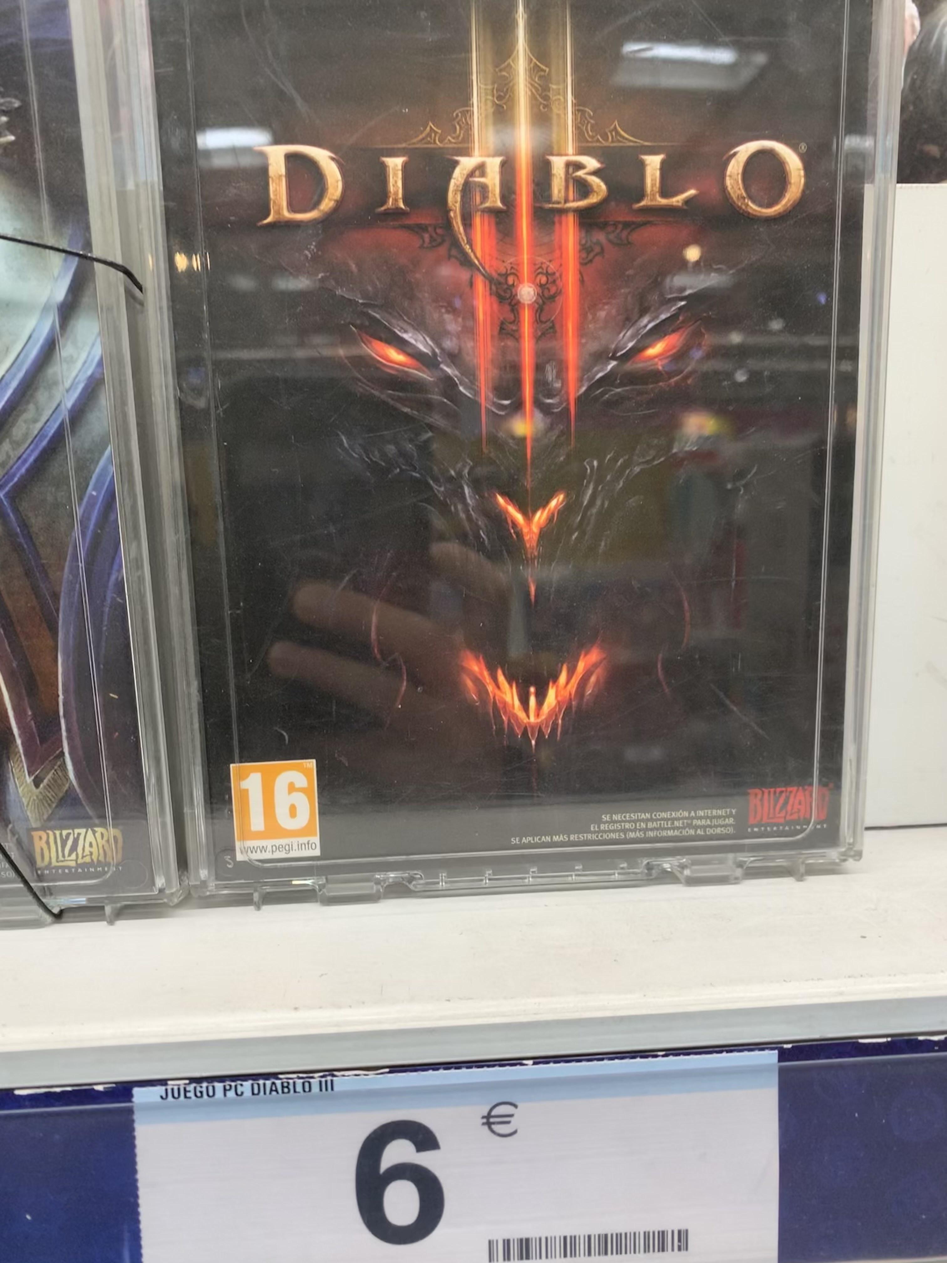 Diablo III PC en Carrefour (Málaga)
