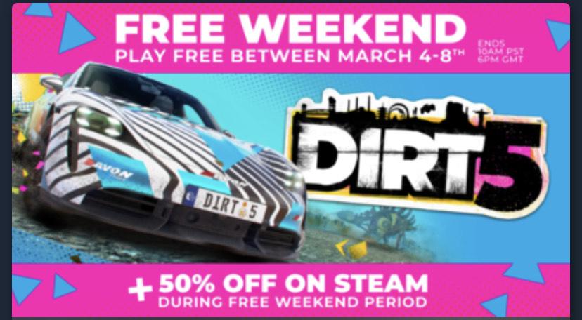 Juega GRATIS a DiRT 5 en Steam (4/3-8/3)