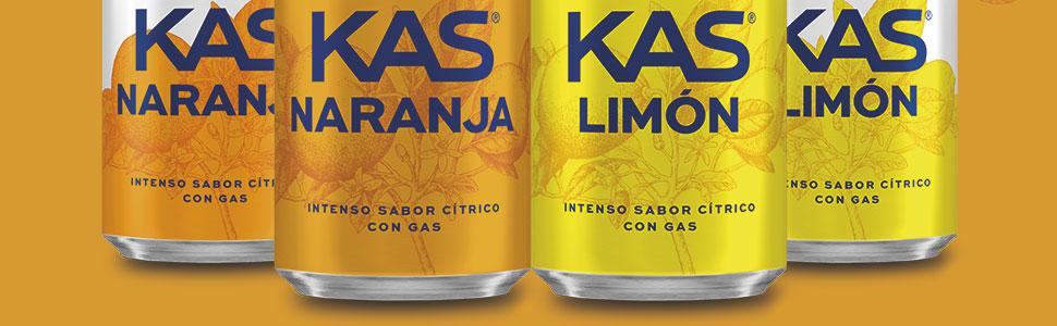 Descuentazos en KAS (Naranja/Limón) latas 25 cents//0,39€/litro