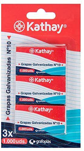 3 cajas de 1000 grapas (cada una) galvanizadas número 10 antioxido