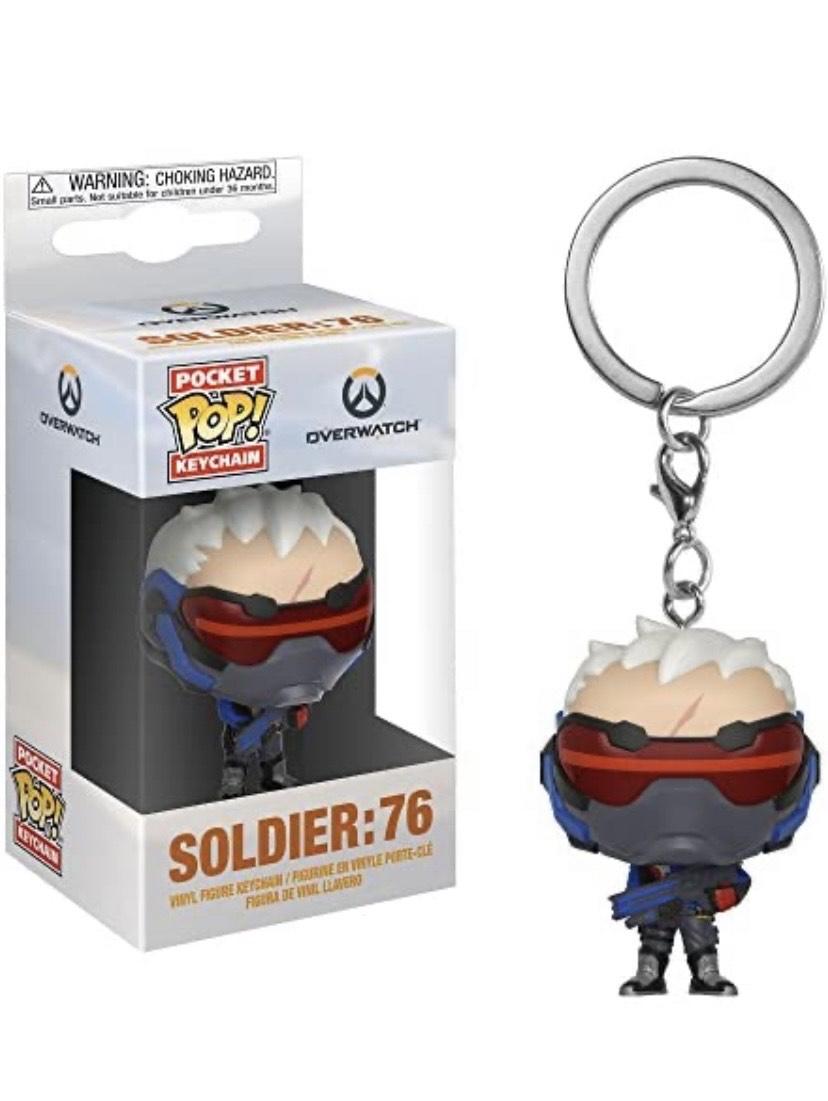 Llavero Pocket POP Keychain: Overwatch: Soldier: 76