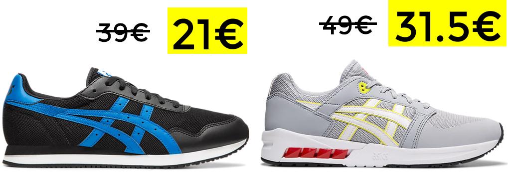 Asics Tiger Runner 21€ y Asics GelSaga Sou por 31.5€