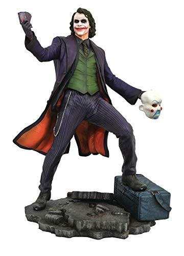 DC Comics Estatua de Diamond Select del personaje Joker de la película Dark Knihgt - Estatua DC Gallery Joker