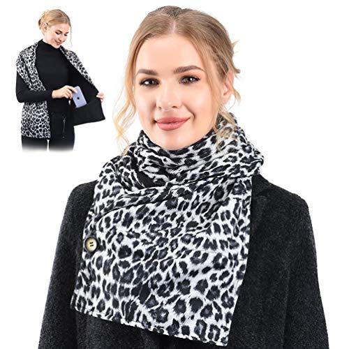 Bufanda de paño con bolsillos interiores