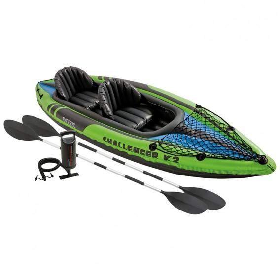 Kayak canoa hinchable Intex Challenger K2 con remos 68306NP