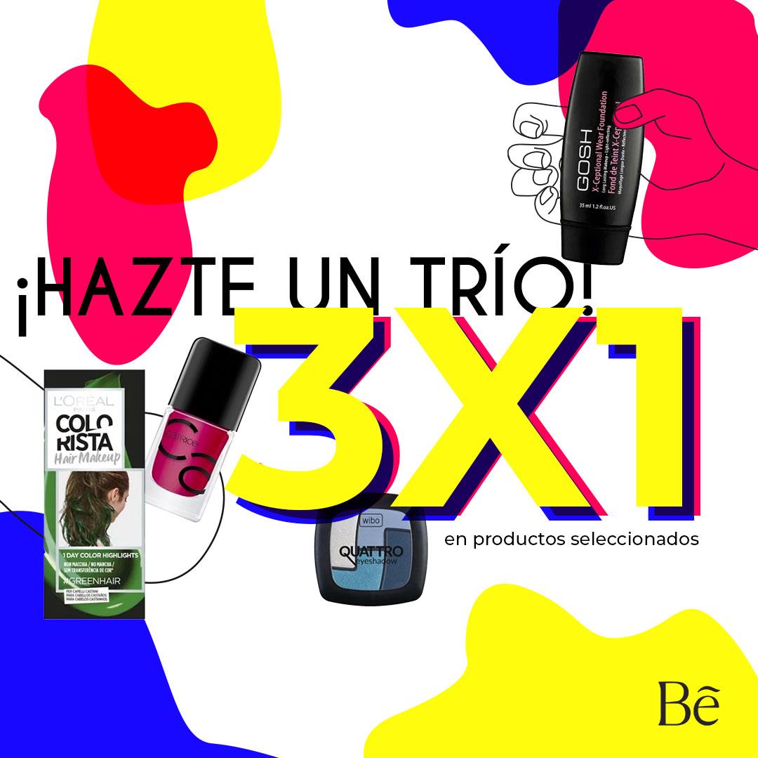 3x1 en productos seleccionados de Cosmética