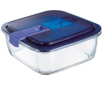 Recipiente hermético cuadrado de vidrio, capacidad de 1 litro, LUMINARC varios modelos