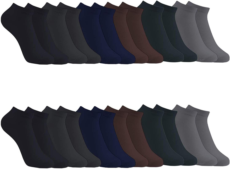 12 Pares Show calcetines de corte bajo de algodón