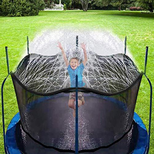 Aspersor Trampolín Set,Cama elástica de Jardín Water Play Sprinklers, Hechos para Sujetar en la Caja de Red de Seguridad del trampolín (8 m)