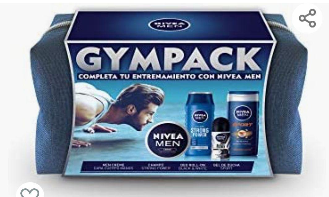 NIVEA MEN Neceser Gimnasio, gel de ducha (1 x 250 ml), champú (1 x 250 ml), desodorante roll (1 x 50 ml) y NIVEA MEN Creme (1 x 75 ml)