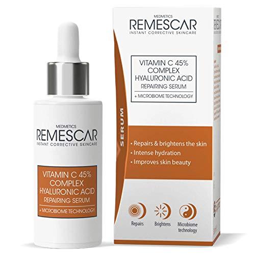 Remescar – Vitamina C y Ácido Hialurónico Serum Reparador - Microbiome Technology