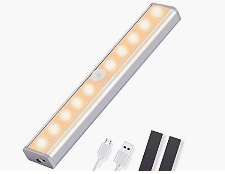 OUSFOT Luz Armario con Sensor de Movimiento Luz Sensor para Armario USB Recargable LED Armario