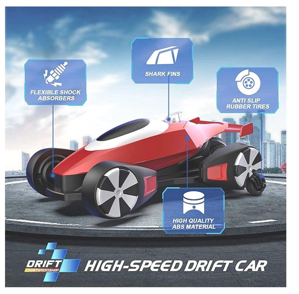 Mini Coche Teledirigido RC Recargable(USB)con 16-20 Km/h Alta Velocidad,160 ° Gira,2 Modos de conducción