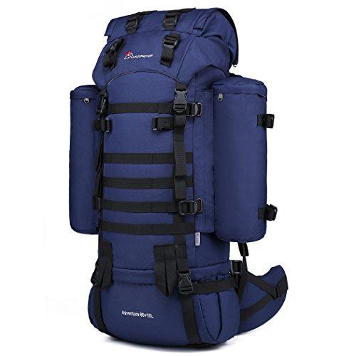Mochila senderismo 65+10L con cupón 40% color azul