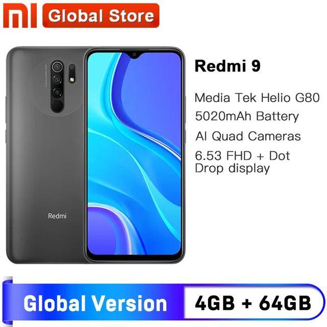 Redmi 9, versión Global, 4GB, 64GB