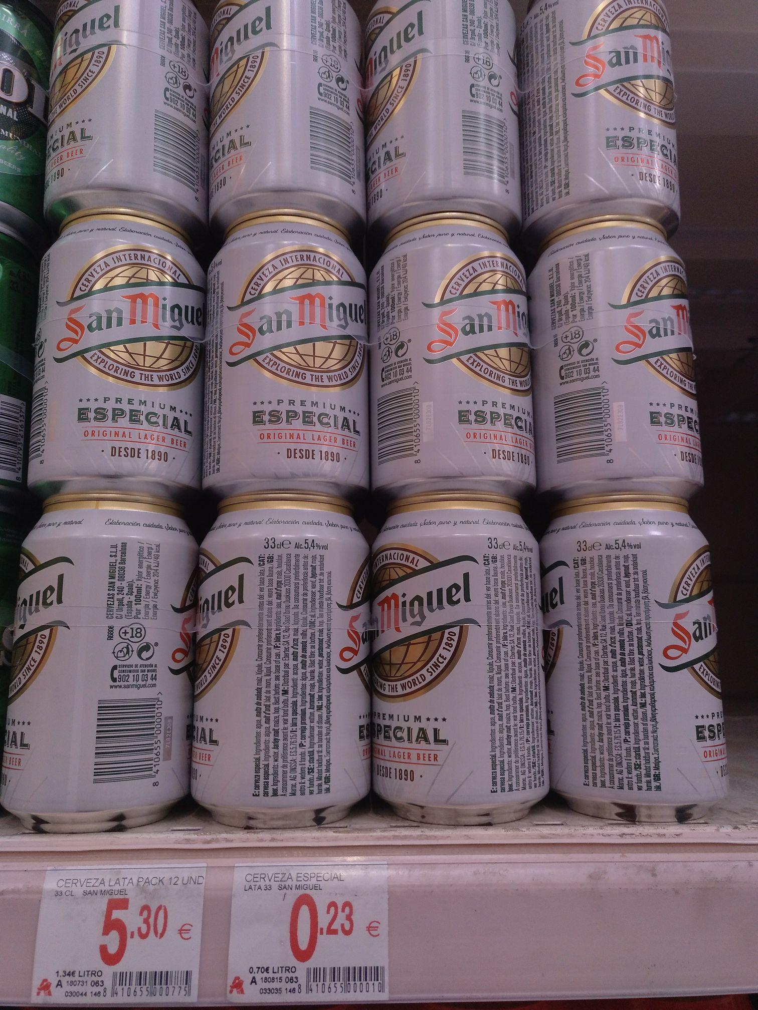 Cerveza San Miguel Premium Especial lata 33cl
