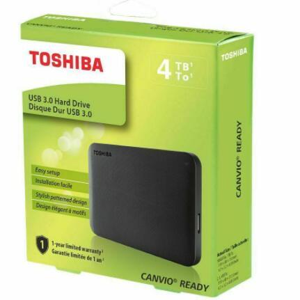"Disco Duro Toshiba Canvio Ready 2.5"" 4TB USB 3.2 Negro"