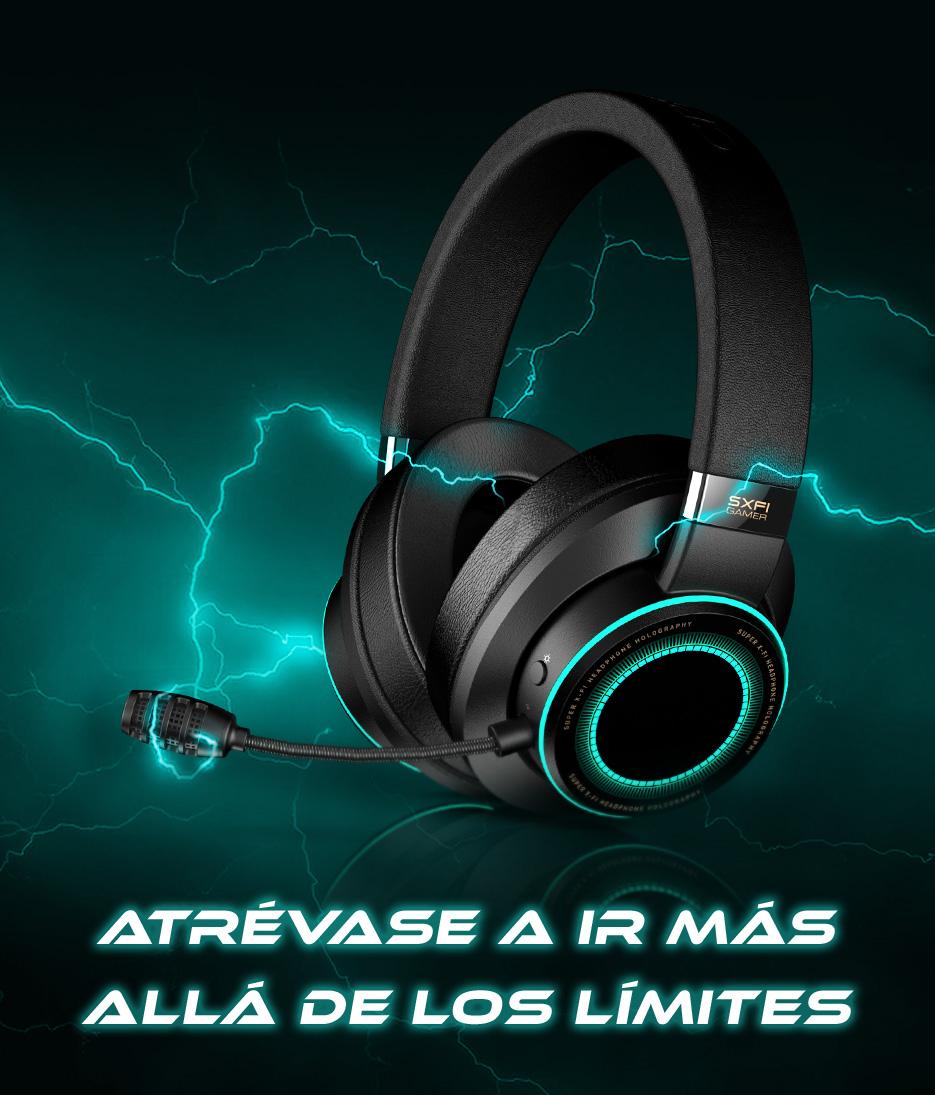 Auriculares gamer Creative SXFI
