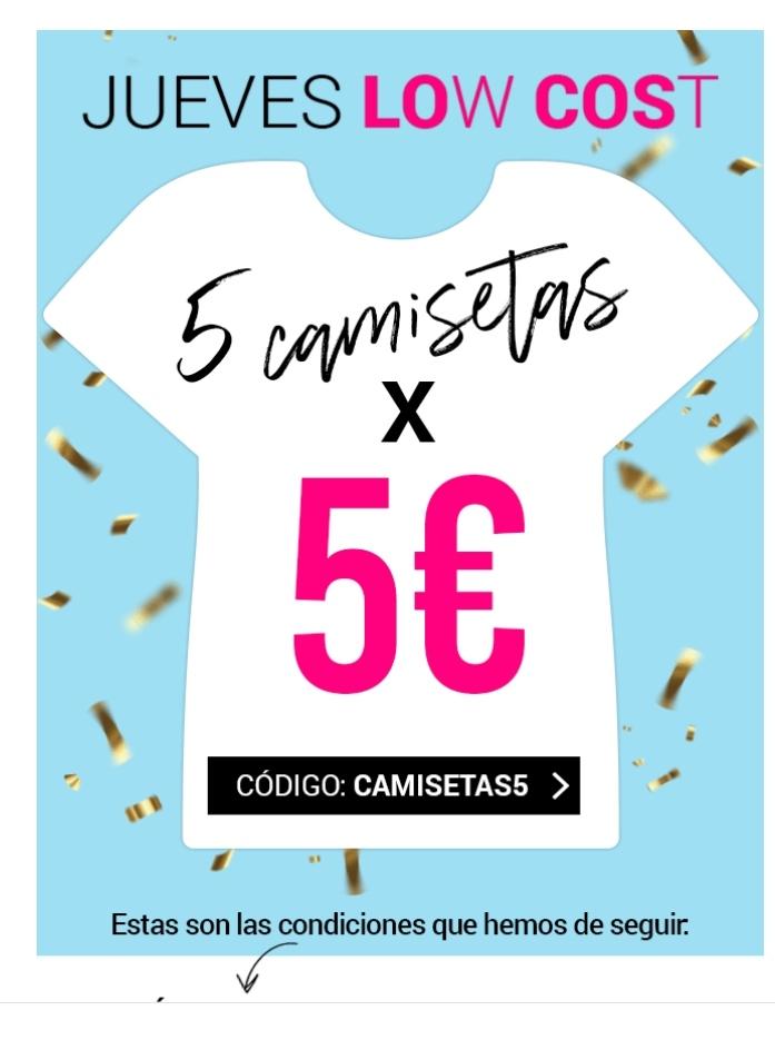 5 camisetas por 5 euros