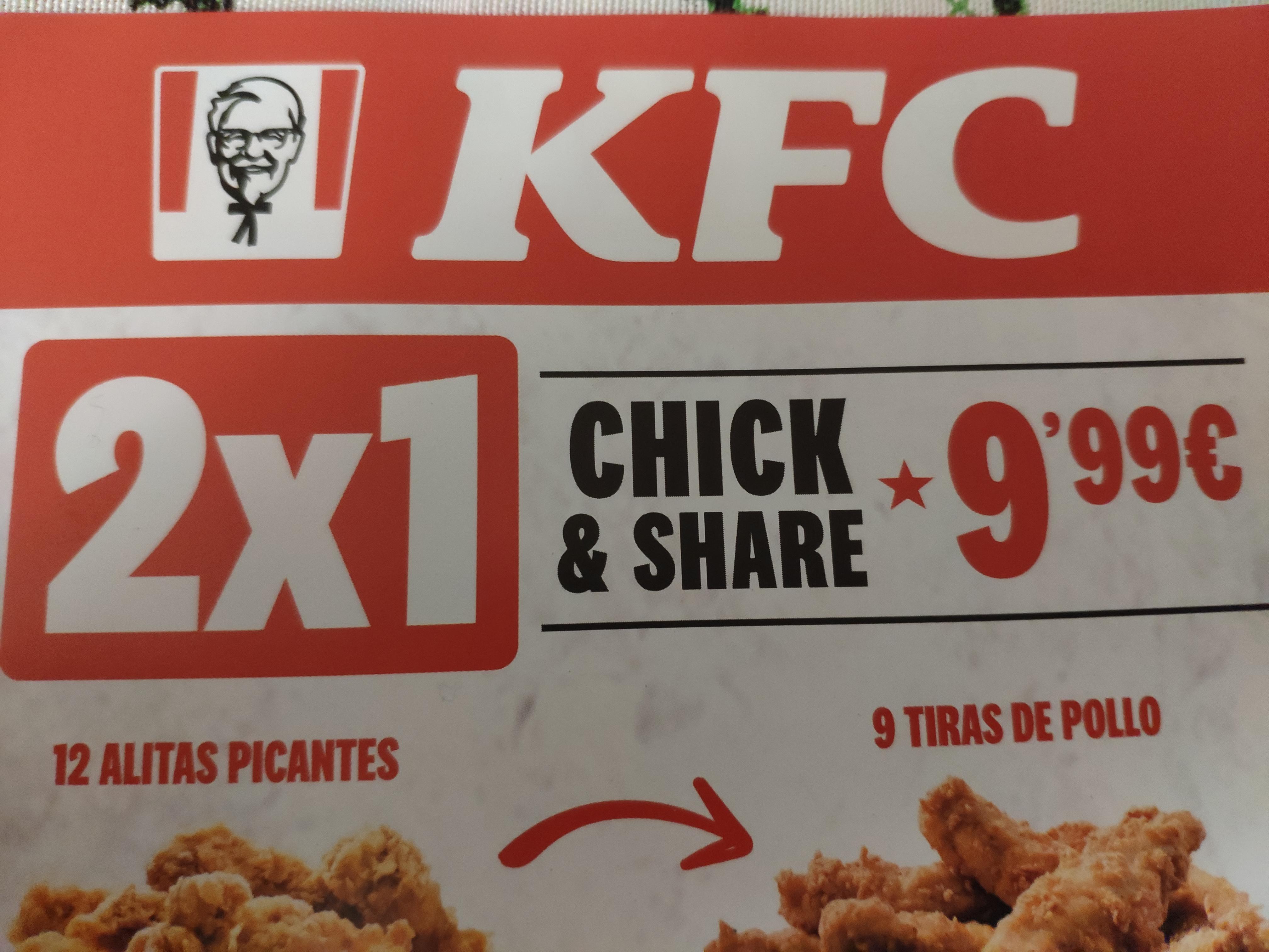 KFC 2x1 en Chick & Share 9,99€ (Sevilla)