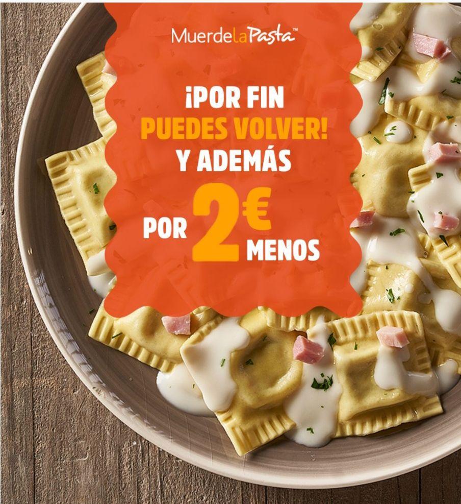 Vuelve por 2€ menos al Buffet Libre (sólo 8'95€) de Muerde la Pasta De Lunes a Viernes y Finde a sólo 11'95€